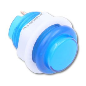 Arcade Button - LED BLEUE - Translucide 24mm