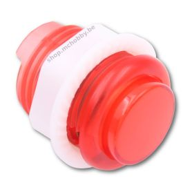 Arcade Button - LED ROUGE - Translucide 24mm