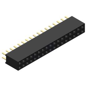 Female connector 2x17 pins