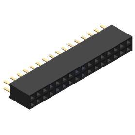 Female connector 2x16 pins