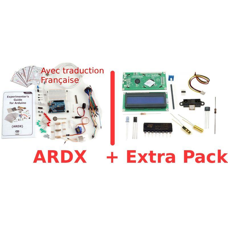 Kit d'expérimentation FRANCAIS pour Arduino (ARDX v1.3) + ARDX EXTRA PACK