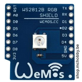 WS2812B RGB shield for Wemos D1