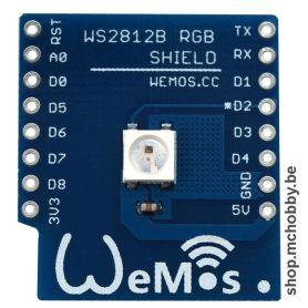 WS2812B RGB shield for Wemos D1
