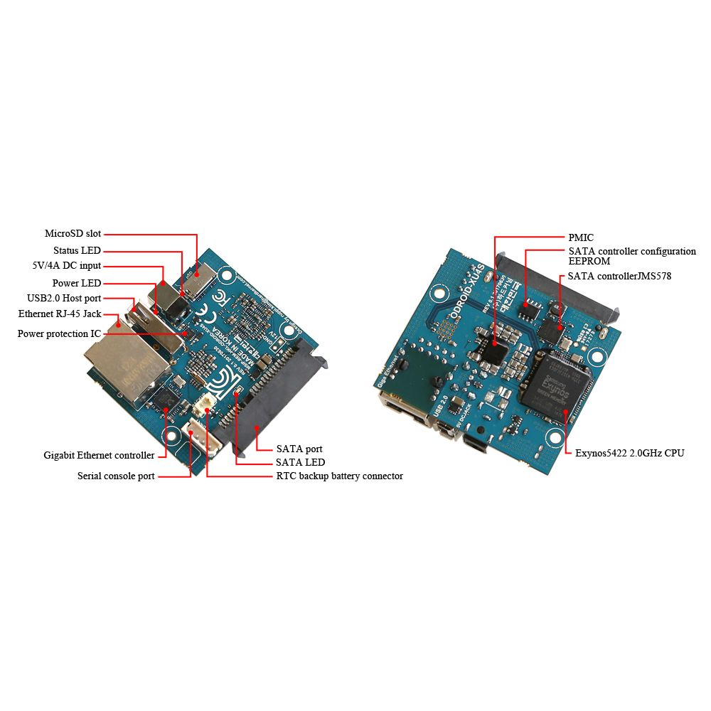▷ ODroid HC1 : Home Cloud One + PSU - MCHobby - Vente de
