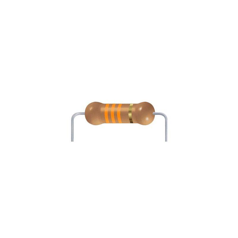 33 KOhms resistor - 10 items