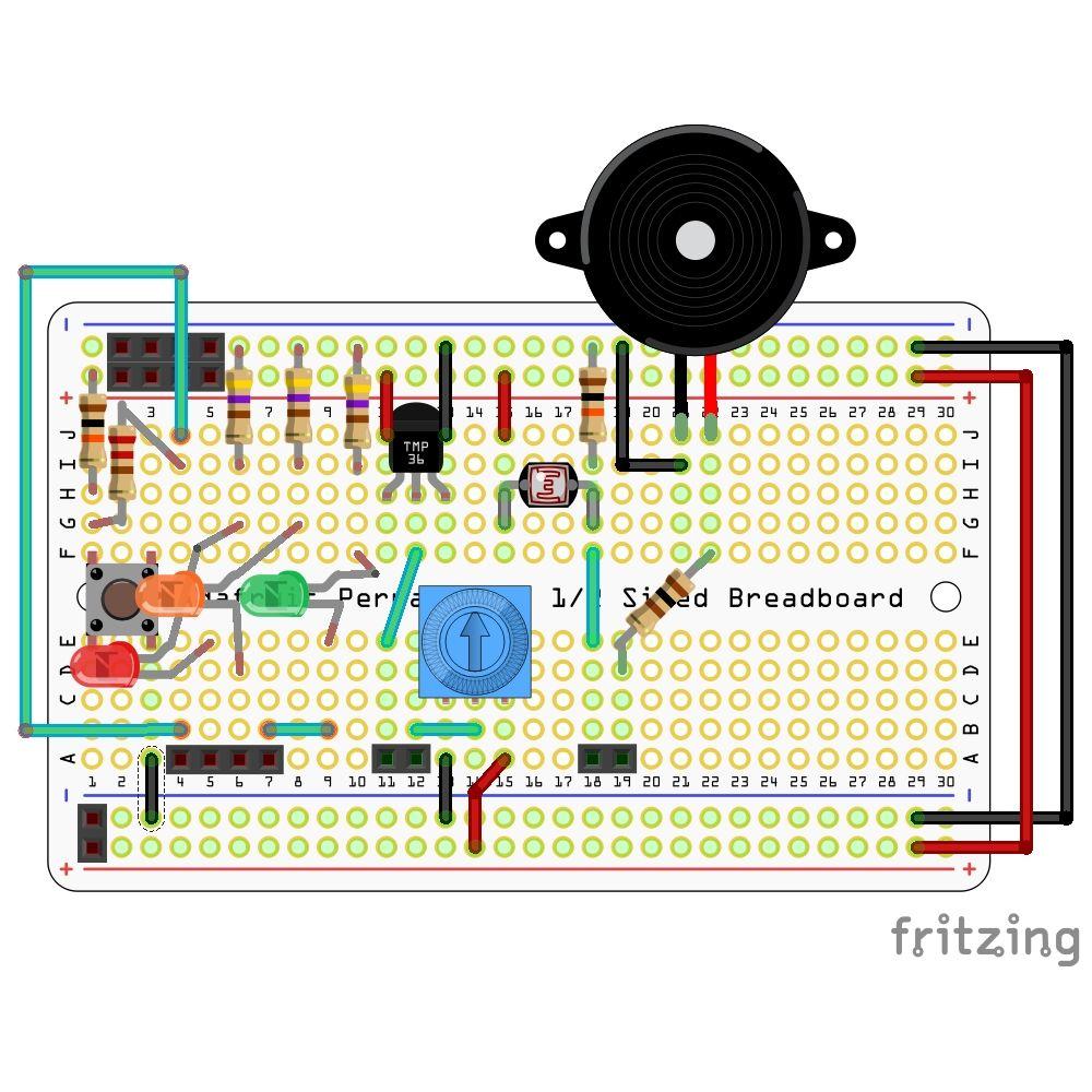 Kit Appprentissage Soudure V11 Mini Labo Arduino Mchobby Breadboard With Wire Watterott Electronic