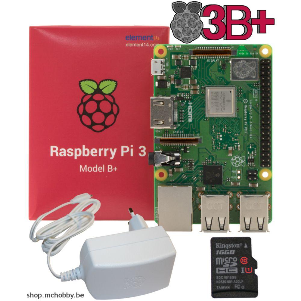 raspberry pi 3 b plus essentiel pack. Black Bedroom Furniture Sets. Home Design Ideas
