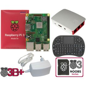 Raspberry Pi 3 B Plus - WHITE Mediacenter kit (Pi incl)