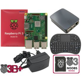 Raspberry Pi 3 B Plus - BLACK Mediacenter kit (Pi incl)