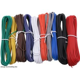 Kit fil multi-brin 24AWG, 10 couleurs, 60m