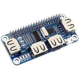 pHat HUB 4 Port USB + USB vers UART pour Pi Zero
