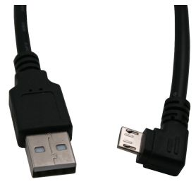 microUSB cable with 90° right plug
