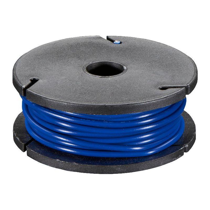 Solid-core WHITE wire spool - 7.50m