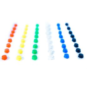 Colorful button caps pack