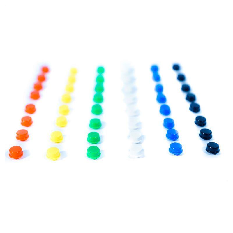 Pack de capuchons couleurs pour boutons