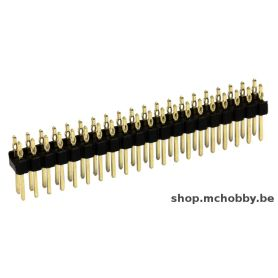1 x solderless male header 2x20 pins - HAMMER pinHeader
