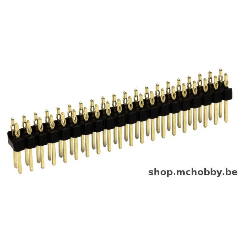 1 x connecteur mâle 2x20 broches droit (sans soudure) - Connecteur HAMMER / MARTEAU