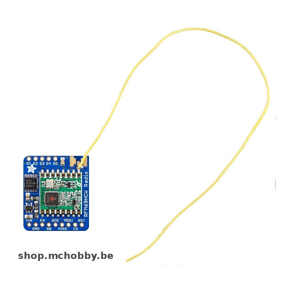 ▷ RFM69HCW Transceiver Radio Breakout - 433 MHz