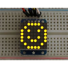 Mini Matrice 8x8 JAUNE - I2C - 20mm