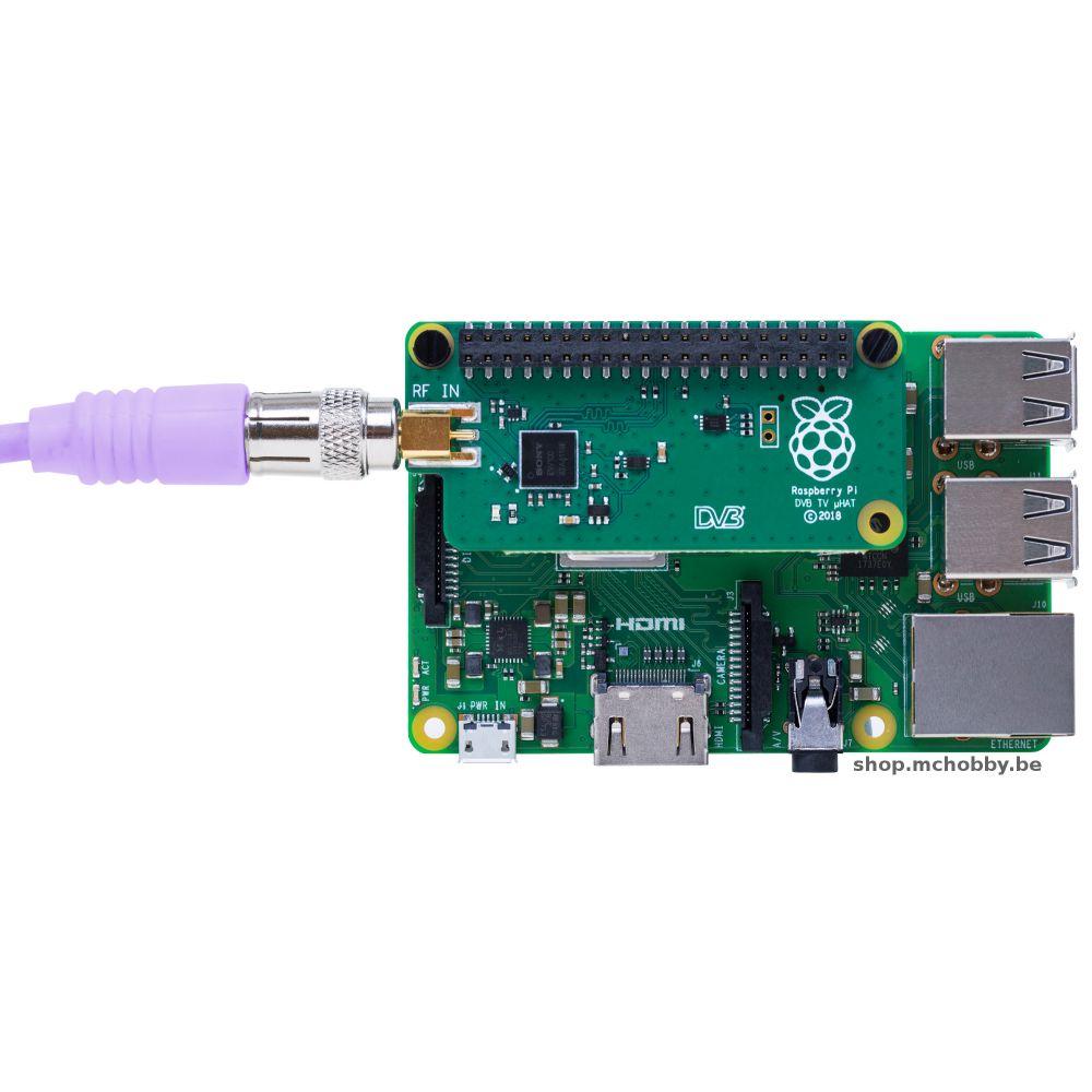 ▷ TV HAT for Raspberry-Pi - DVB-T & DVB-T2 - MCHobby