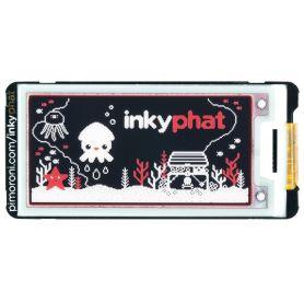"Inky pHAT afficheur eInk (2.13"") - Rouge/Noir/Blanc"