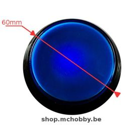 Large Arcade Button - Blue LED - 60mm