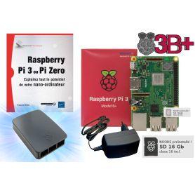 Raspberry Pi 3 B PLUS - Kit découverte + Pi + Livre inclus (978-2-409-00437-7)