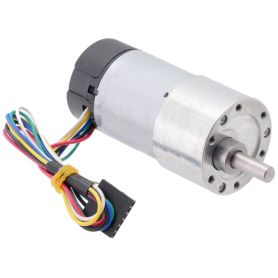 12V 50:1 motor - 6mm D shaft - 37D - metal gearbox - 64 CPR encoder