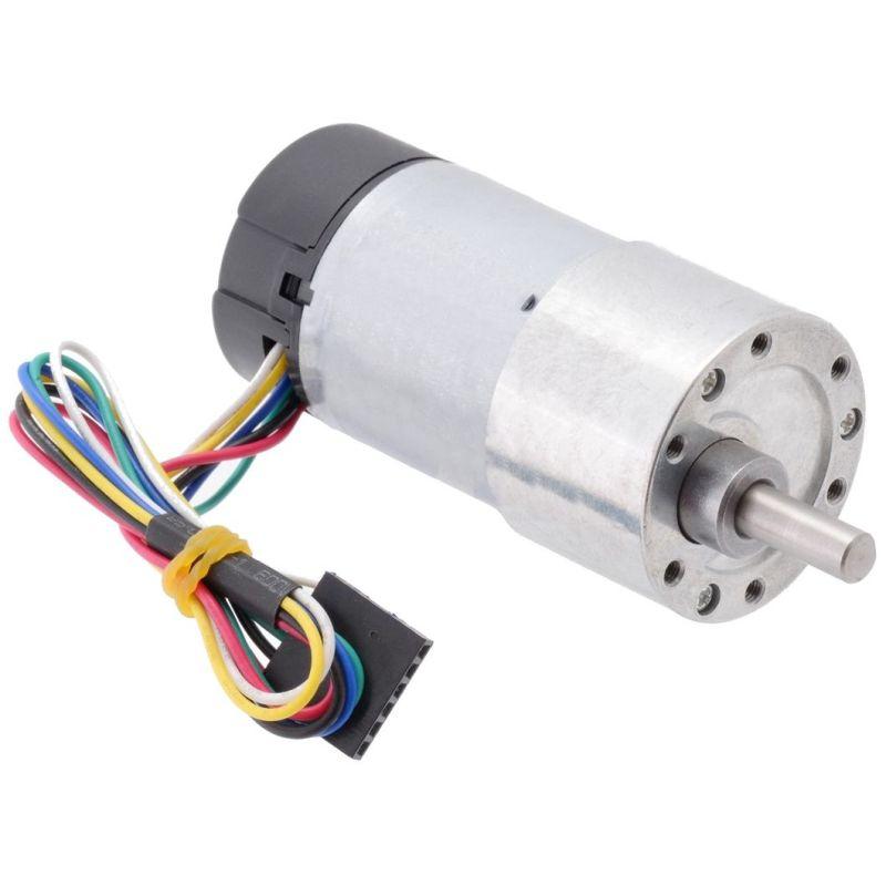 12V 50:1 motor - 6mm D shaft - 37D - metal gearbox - 64 CPR encoder