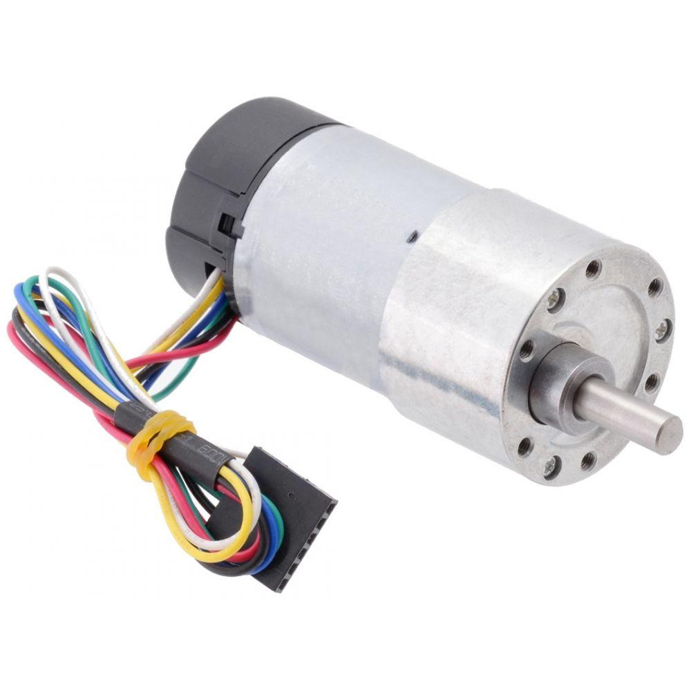▷ 12V 50:1 motor - 6mm D shaft - 37D - metal gearbox - 64