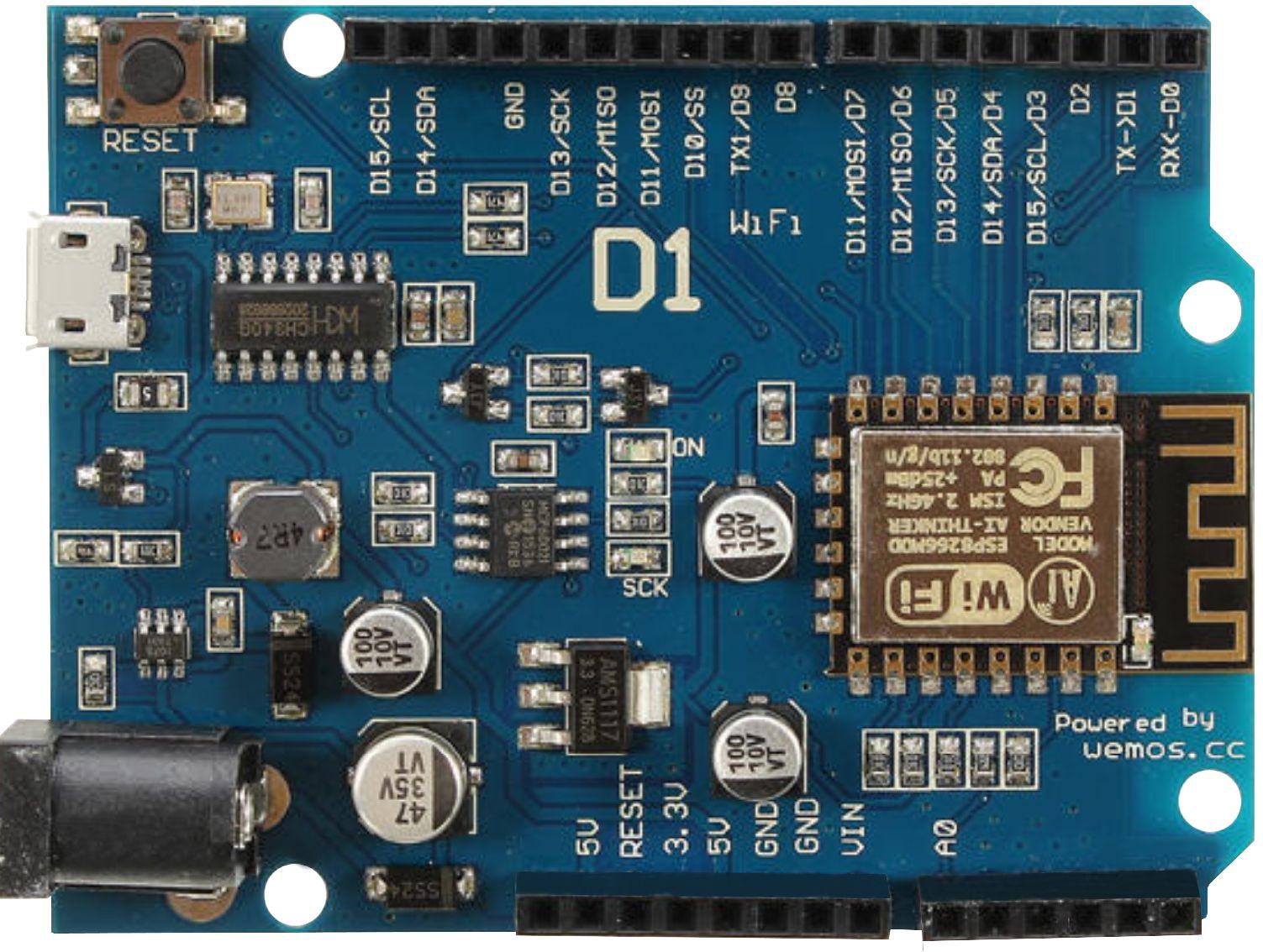 UNO Wemos D1 ESP8266 - Arduino Uno FormFactor - MCHobby - Vente de  Raspberry Pi, Arduino, ODROID, Adafruit