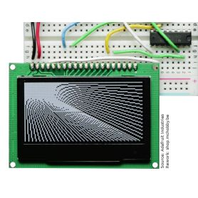 Graphic OLED display 128x64 Monochrome - 2.42""