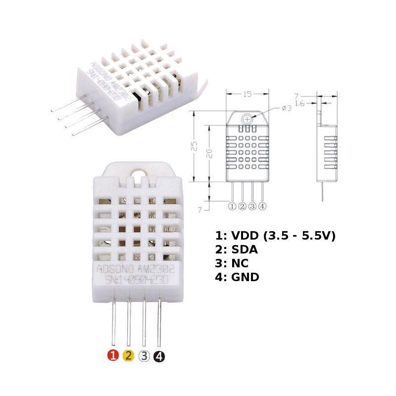 DHT22 + extra - temp & himidity sensor
