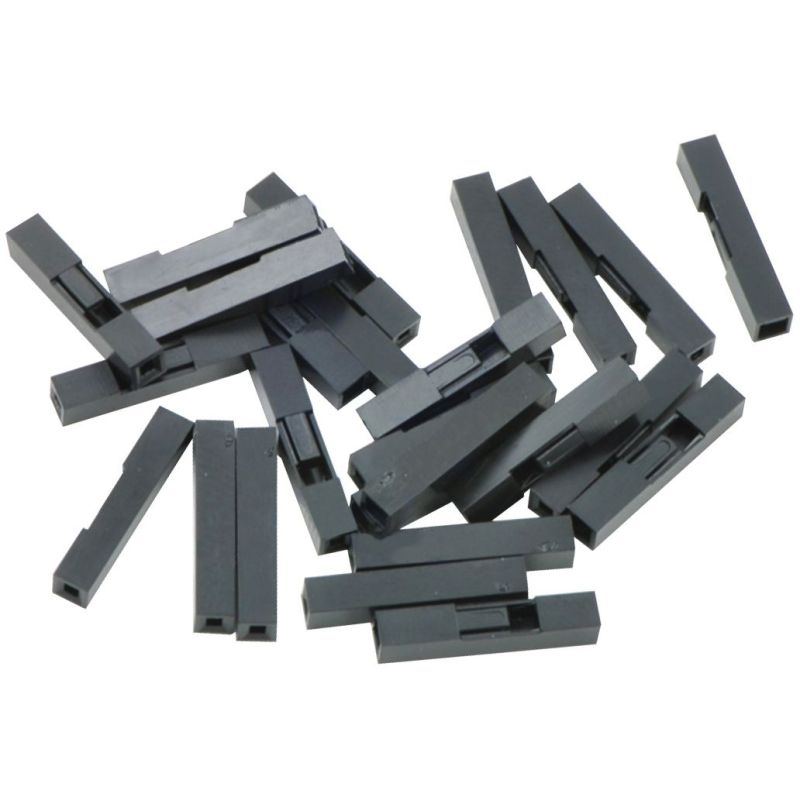 25x Housing for 1x1 crimp connector - 2.54mm