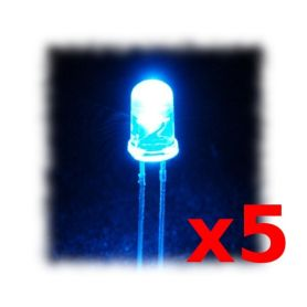 [T] - 5 LEDs Super Brillantes BLEUES