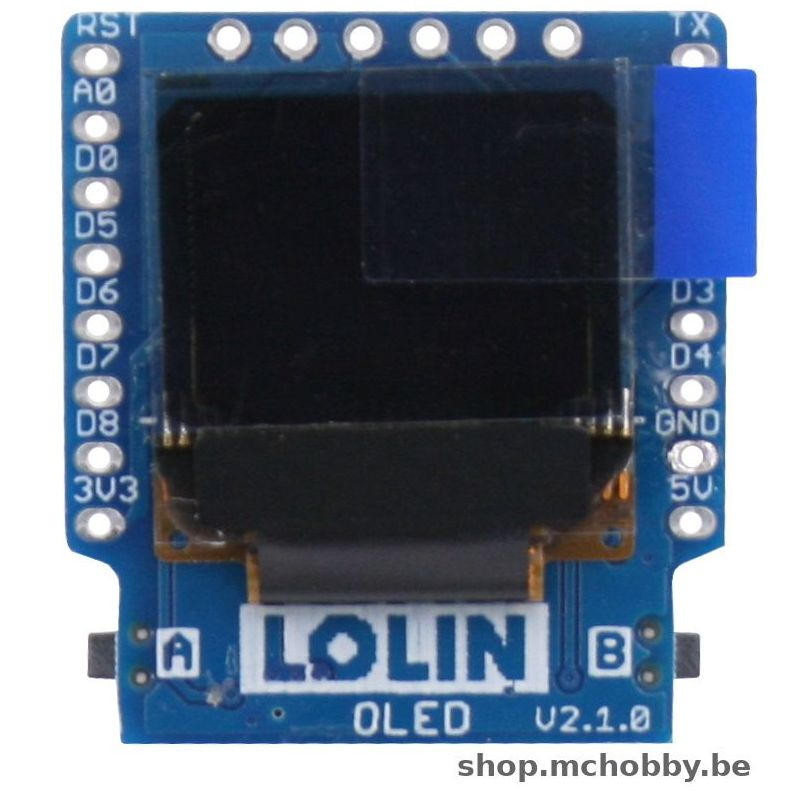 Wemos OLED shield - 64 x 48 - 0.66""