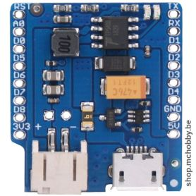Lithium battery Shield for Wemos D1