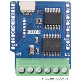 Shield moteur (I2C) pour LOLIN Wemos D1 - Contrôle de 2 moteurs