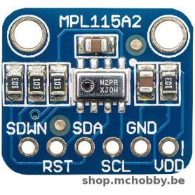 MPL115A2, pressure and temperature sensor, I2C
