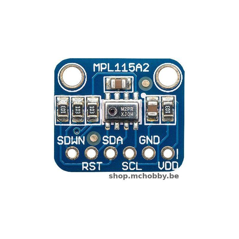 MPL115A2, Capteur de pression et température, I2C