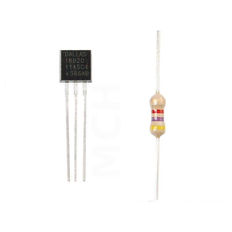 DS18B20 temperature sensor KIT + Extra - MCHobby - Vente de Raspberry Pi,  Arduino, ODROID, Adafruit
