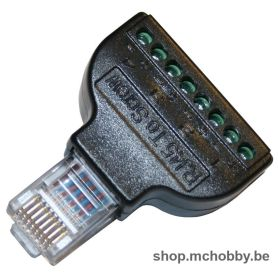 Male RJ45 adapter to 8x screw terminals