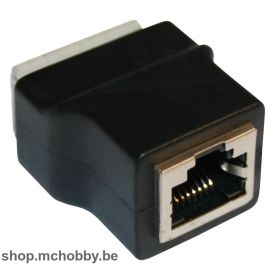 Female RJ45 dapter to 8x clip connector