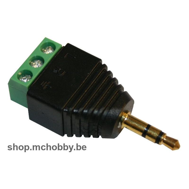 Male stereo adapter to terminals