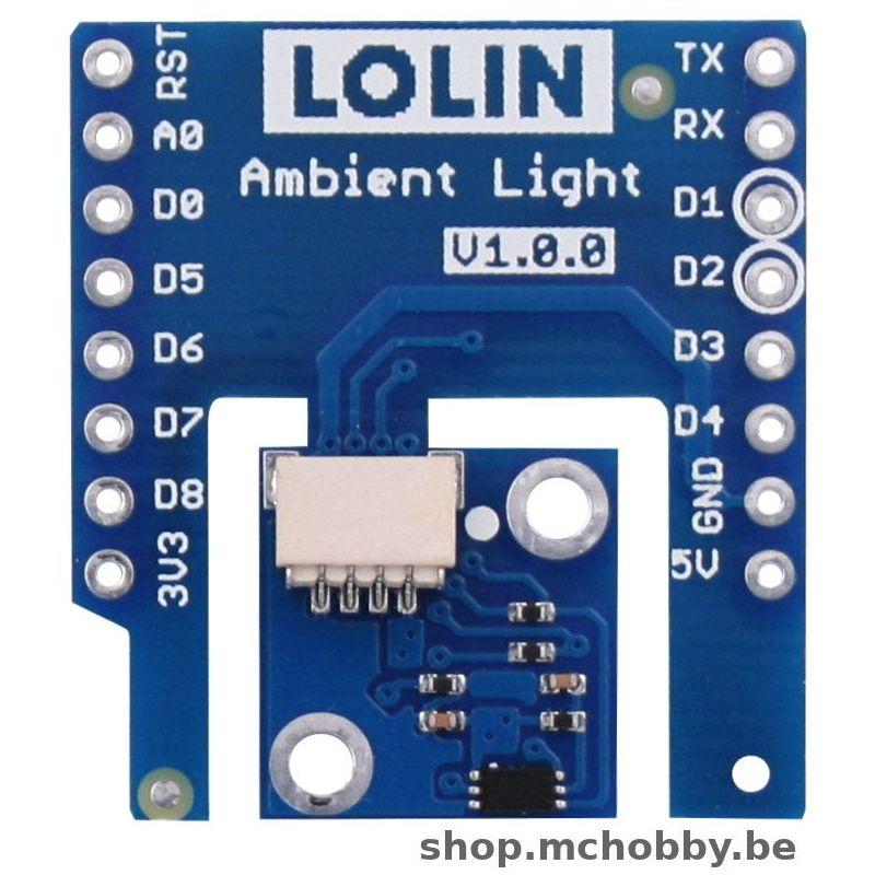 Shield BH1750 pour LOLIN Wemos D1 - Lumière ambiante