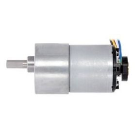 Moteur 12V 19:1 - Axe 6mm D - 37D - engrenage metal - encodeur CPR64