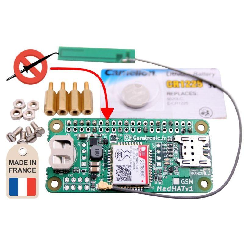 NadHAT GSM/GPRS + SOLDERED HEADER - SIM800C - v1 - MCHobby - Vente de  Raspberry Pi, Arduino, ODROID, Adafruit
