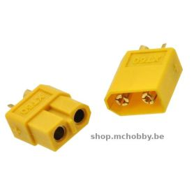 XT60 connector - Yellow - Male+Female