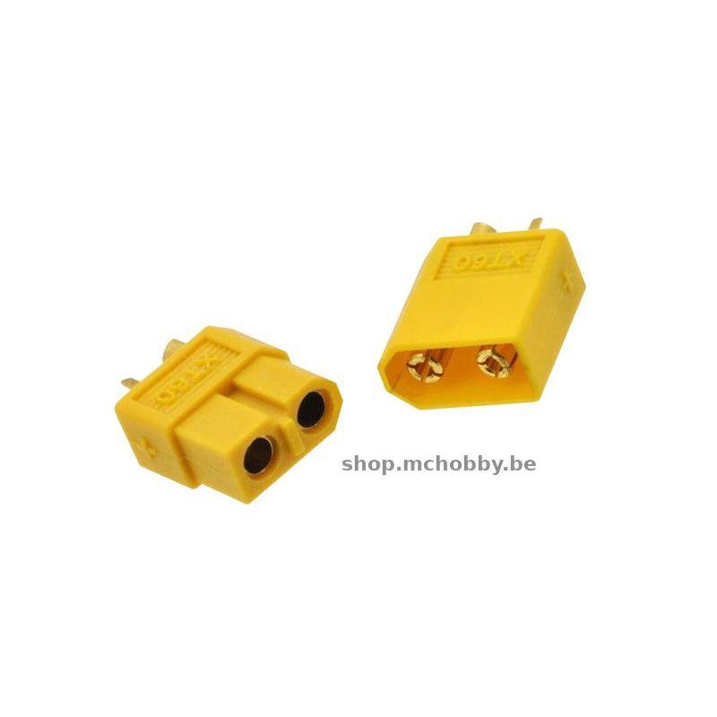 Paire de connecteur XT60-Jaune
