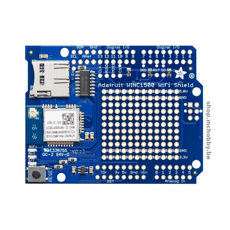 ATWINC1500 WiFi Shield Arduino avec uFl connector